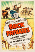 "Movie Posters:Comedy, Buck Privates (Universal, 1941). One Sheet (27.5"" X 41"").. ..."