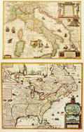 Books:Maps & Atlases, [Maps] Two Reproductions of Early Maps. Larger measures 24 x 18 inches. Some edgewear. Very good. . From the American Heri...