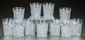 Miscellaneous, ELEVEN CUT-GLASS TUMBLERS, circa 1900. Marks: Tuthill(marked on set of five). 3-3/4 inches high (9.5 cm). A Private T...(Total: 11 Items)