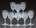 Miscellaneous, EIGHT CUT-GLASS CORDIAL STEMS, circa 1900. 4-1/2 inches high (11.4cm). A Private Texas Collection of American Brilliant C... (Total:8 Items)