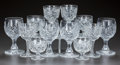 Miscellaneous, TWELVE CUT-GLASS STEMS, circa 1900. 5-1/2 inches high (highest)(14.0 cm). A Private Texas Collection of American Brillian...(Total: 12 Items)