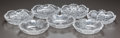 Miscellaneous, SEVEN SMALL CUT-GLASS DISHES, circa 1890. 1 inch high x 5 inchesdiameter (widest) (2.5 x 12.7 cm). A Private Texas Collec...(Total: 7 Items)