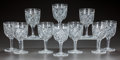 Miscellaneous, TEN CUT-GLASS WINE GLASSES, circa 1890. 6-1/4 inches high (15.9cm). A Private Texas Collection of American Brilliant Cut ...(Total: 10 Items)