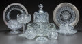 Miscellaneous, A GROUP OF TEN CUT-GLASS AND SILVER PLATE TABLE ITEMS, circa 1900.3 inches high x 9 inches diameter (widest bowl) (7.6 x 22...(Total: 10 Items)