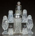 Miscellaneous, EIGHT CUT-GLASS SALT AND PEPPER SHAKERS, circa 1890. 4-1/2 incheshigh (highest) (11.4 cm). A Private Texas Collection of ... (Total:8 Items)