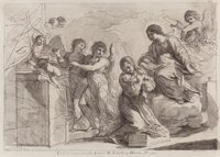After GUERCINO (Italian, 1591-1666) Ex Collectione Comitis Antonii M. Zanetti q. Hieron. F. Etching<