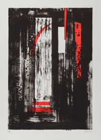 JOHN PIPER (British, 1903-1992) Untitled Lithograph 32-1/8 x 23-1/4 inches (81.6 x 59.1 cm) Ed