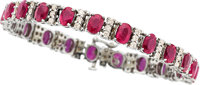 Ruby, Diamond, White Gold Bracelet