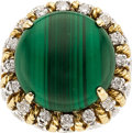 Estate Jewelry:Rings, Malachite, Diamond, Gold Ring. ...