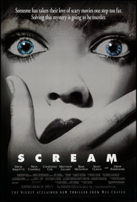 """Scream and Others Lot (Dimension, 1996). One Sheets (4) (27"""" X 40"""", 26.75"""" X 39.75"""", and 26.5""""..."""