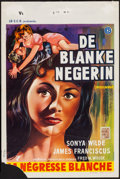"Movie Posters:Exploitation, I Passed for White (Allied Artists, 1960). Belgian (14"" X 21.5""). Exploitation.. ..."