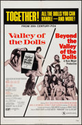 "Movie Posters:Exploitation, Valley of the Dolls/Beyond the Valley of the Dolls Combo (20thCentury Fox, R-1971). One Sheet (27"" X 41""). Exploitation.. ..."