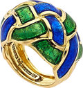 Estate Jewelry:Rings, Enamel, Gold Ring, Schlumberger For Tiffany & Co.. ...
