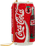 Luxury Accessories:Bags, Kathrine Baumann Limited Edition Full Bead Red, Silver & GreenCrystal Coca Cola Can Minaudiere Evening Bag, 43/2500.Exce...
