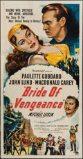 "Movie Posters:Adventure, Bride of Vengeance (Paramount, 1949). Three Sheet (41"" X 79"").Adventure.. ..."