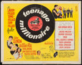 "Movie Posters:Rock and Roll, Teenage Millionaire (United Artists, 1961). Half Sheet (22"" X 28"")& Insert (14"" X 36""). Rock and Roll.. ..."