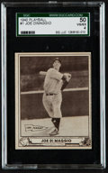 Baseball Cards:Singles (1940-1949), 1940 Play Ball Joe DiMaggio #1 SGC 50 VG/EX 4....