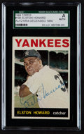 Autographs:Sports Cards, signed 1964 Topps Elston Howard #100 SGC Authentic. ...