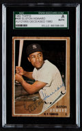 Autographs:Sports Cards, Signed 1962 Topps Elston Howard #400 SGC Authentic. ...