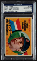 Autographs:Sports Cards, Signed 1960 Topps Carl Yastrzemski #148 PSA/DNA Gem MT 10....