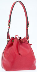 Luxury Accessories:Bags, Louis Vuitton Red Epi Leather Noe MM Bag. ...