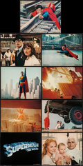 "Movie Posters:Action, Superman the Movie (Warner Brothers, 1978). Deluxe Mini Lobby CardSet of 9 (8"" X 10""). Action.. ... (Total: 9 Items)"