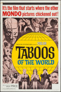 """Movie Posters:Documentary, Taboos of the World (American International, 1965). One Sheet (27"""" X 41""""). Documentary.. ..."""