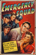 "Movie Posters:Action, Emergency Squad (Paramount, 1940). One Sheet (27"" X 41""). Action.. ..."