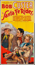 "Movie Posters:Western, Santa Fe Rides (Reliable, 1937). Three Sheet (41"" X 78""). Western.. ..."