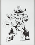 Original Comic Art:Sketches, Jim Starlin - Captain America and Thanos Sketch Original Art(undated)....