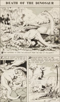 "Original Comic Art:Panel Pages, Al Williamson The World Around Us #15 - Illustrated Story ofPrehistoric Animals - ""Death of the Dinosaur"" Page 1 ..."