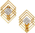 Estate Jewelry:Earrings, Diamond, Gold Earrings, Lalaounis. ...
