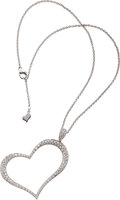 Estate Jewelry:Pendants and Lockets, Diamond, White Gold Pendant-Necklace, Piaget. ... (Total: 2 Items)