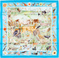 "Luxury Accessories:Accessories, Hermes 90cm Blue ""La Vie Sauvage du Texas,"" by Kermit Oliver SilkScarf. Pristine Condition. 36"" Width x 36"" Length..."