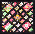 """Luxury Accessories:Accessories, Hermes 90cm Black """"Pavois,"""" by Phillippe Ledoux Silk Scarf.Pristine Condition. 36"""" Width x 36"""" Length. ..."""