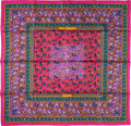 "Luxury Accessories:Accessories, Hermes 90cm Pink ""Chasse en Inde,"" by Michel Duchene Silk Scarf.Pristine Condition. 36"" Width x 36"" Length. ..."