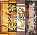 "Luxury Accessories:Accessories, Hermes 90cm Brown ""Ambience Fauve,"" by Bali Barret Silk Scarf.Pristine Condition. 36"" Width x 36"" Length. ..."