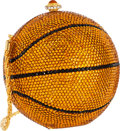 Luxury Accessories:Bags, Kathrine Baumann Limited Edition Full Bead Orange CrystalBasketball Minaudiere Evening Bag, 3/500. ExcellentCondition...