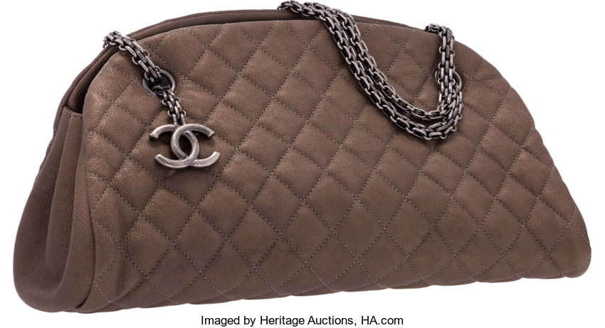 a479c3860ad4 Chanel Bronze Quilted Caviar Leather Mademoiselle Shoulder