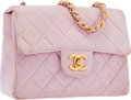 "Luxury Accessories:Bags, Chanel Pink Quilted Lambskin Leather Mini Single Flap Bag . GoodCondition . 7"" Width x 5"" Height x 2"" Depth . ..."