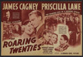 "Movie Posters:Crime, The Roaring Twenties (Warner Brothers, 1939). Herald (8.5"" X 11.5""). Crime. ..."