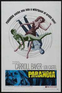 """Paranoia (Commonwealth United, 1969). One Sheet (27"""" X 41""""). Thriller"""
