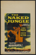 "Movie Posters:Adventure, The Naked Jungle (Paramount, 1954). Window Card (14"" X 22"").Adventure. ..."