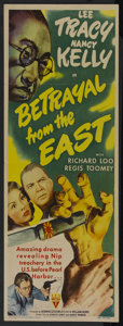 "Movie Posters:Adventure, Betrayal from the East (RKO, 1944). Insert (14"" X 36""). Adventure...."