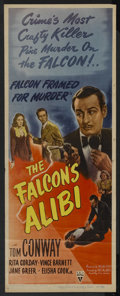"Movie Posters:Crime, The Falcon's Alibi (RKO, 1945). Insert (14"" X 36""). Crime...."
