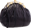 "Luxury Accessories:Bags, Judith Leiber Black Lizard Evening Bag. Excellent Condition.10.5"" Width x 8"" Height x 3"" Depth. CITEScomplianc..."