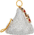 Luxury Accessories:Bags, Kathrine Baumann Limited Edition Full Bead Silver Crystal Hugs& Kisses Minaudiere Evening Bag, 69/500. Very GoodConditio...