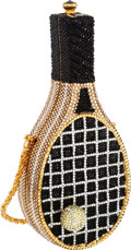 Luxury Accessories:Bags, Kathrine Baumann Limited Edition Full Bead Black, Gold & SilverCrystal Wilson Tennis Racket Minaudiere Evening Bag, 15/500...