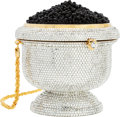 Luxury Accessories:Bags, Kathrine Baumann Limited Edition Full Bead Silver Crystal CaviarMinaudiere Evening Bag, 18/500 . Very Good to Excellent C...