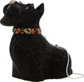 "Luxury Accessories:Bags, Judith Leiber Full Bead Black Crystal Terrier Dog MinaudiereEvening Bag. Very Good Condition. 4.5"" Width x 5.5""Heigh..."